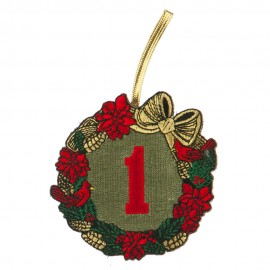 Embroidered Ornament Medallion US Navy