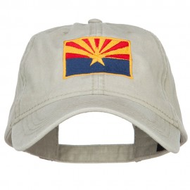 Arizona State Flag Embroidered Washed Cap