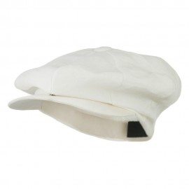 Big 8 Panel Apple Linen Cap