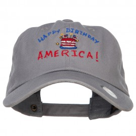 Happy Birthday America Embroidered Unconstructed Cap