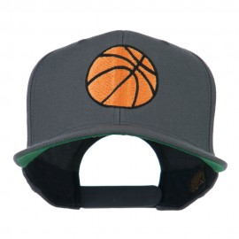 Basketball Embroidered Flat Bill Cap