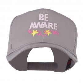 Be Aware Cancer Awareness Embroidered Cap