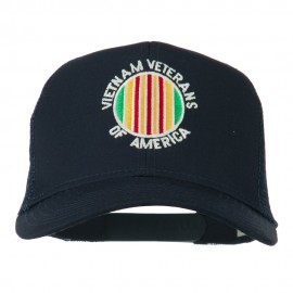 Vietnam Veterans Badge Embroidered Twill Mesh Cap