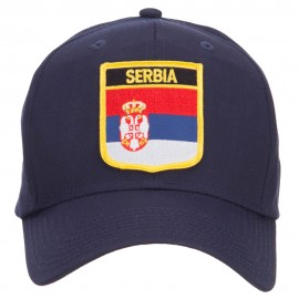 Serbia Flag Shield Patched Cap