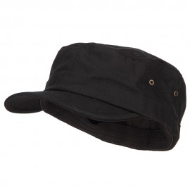 Big Size Fitted Trendy Army Style Cap - Black