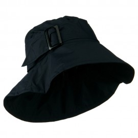 Woman's Nylon Buckle Band Hat - Navy