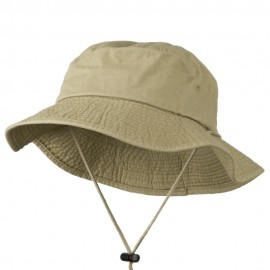 Big Size Washed Bucket Hat with Chin Cord