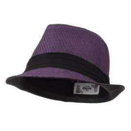 Toyo Fedora Hat with Black Band