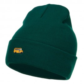 Mini Bus Embroidered Long Beanie