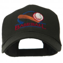 Baseball Bat and Ball Embroidery Cap