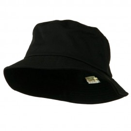Big Size Cotton Blend Twill Bucket Hat - Black