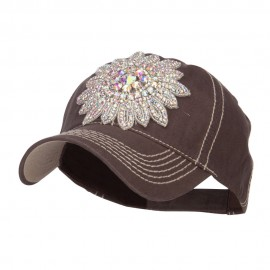 AB Stones Applique Ball Cap