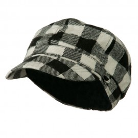 Buffalo Checker Newsboy Hat