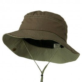 Big Size Talson UV Bucket Hat with Chin Cord - Olive Khaki