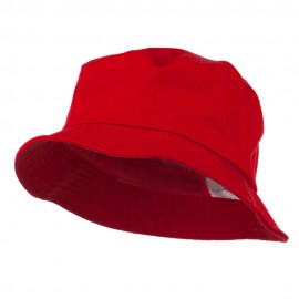 Big Size Cotton Blend Twill Bucket Hat - Red