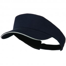 Brushed Cotton Sandwich Visor - Navy White