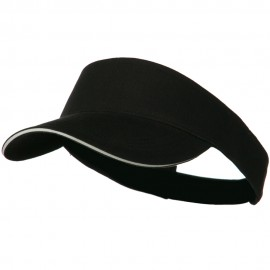 Brushed Cotton Sandwich Visor - Black White