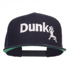 Basketball Dunk Embroidered Snapback Cap