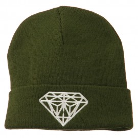 Big Diamond Embroidered Long Beanie
