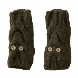 Ladies Button Eyes Fingerless Arm Warmer