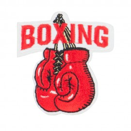 Boxing Embroidered Patches
