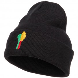 Benin Flag Map Embroidered Long Beanie