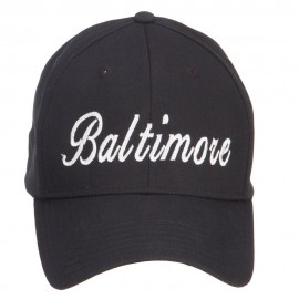 City of Baltimore Embroidered Cotton Cap
