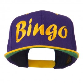 Bingo Embroidered Flat Bill Cap