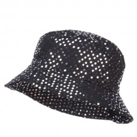 Ladies Bling Disk Bucket Hat