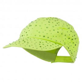 Bejeweled Glitter Baseball Cap - Lime