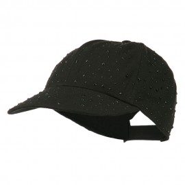 Bejeweled Glitter Baseball Cap - Black