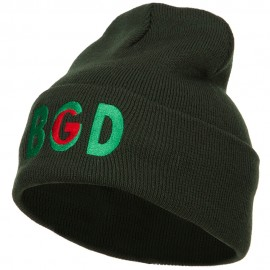 Bangladesh BGD Flag Embroidered Long Beanie