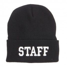 Staff Letter Embroidered Long Beanie