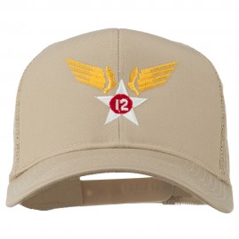 12th Air Force Badge Embroidered Mesh Cap