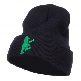 Bear Island Embroidered Long Beanie