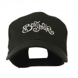 Bonjour French Embroidered Cap