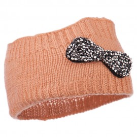 Beaded Knit Bow Headband