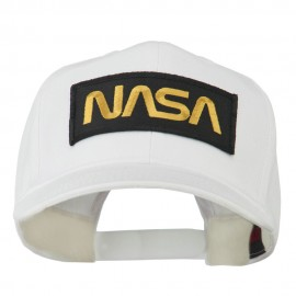 Black NASA Embroidered Patched High Profile Cap
