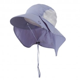 UV 50+ Talson Large Bill Hat with Detachable Flap - Purple