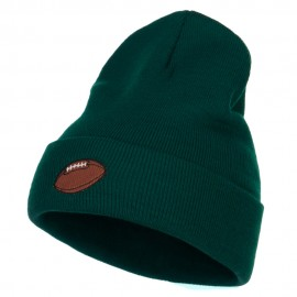 Football Embroidered Long Beanie
