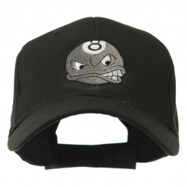 Billiard 8 Ball Face Embroidery Cap