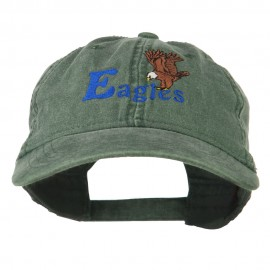 Blue Eagles Embroidered Washed Cap