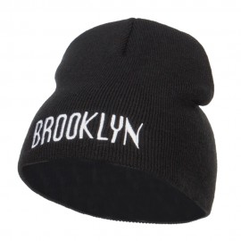 Brooklyn Embroidered Short Beanie