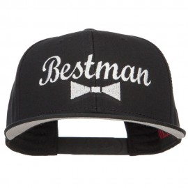 Bestman Bow Tie Embroidered Cotton Snapback - Black