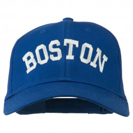 Boston Embroidered Solid Cotton Twill Cap