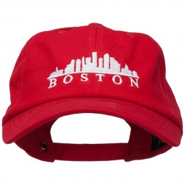 Boston Skyline Embroidered Washed Cap