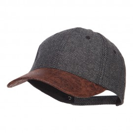 Herringbone Washed PU Ball Cap