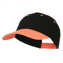 6 Panel Light Weight Two Tone Brushed Cotton Twill Cap
