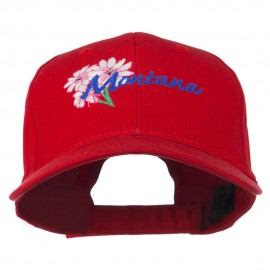 USA State Montana Bitter Root Embroidered Low Profile Cap