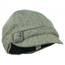 Muffy Square Buckle Cabbie Cap